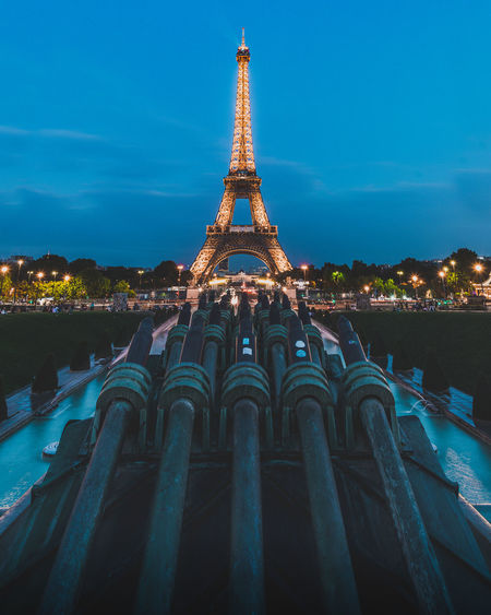 Architecture Built Structure Travel Destinations Tower Nature Sky Tall - High Building Exterior Metal Travel No People City Illuminated Building Tourism Outdoors History The Past Iron - Metal Spire  Eiffel Tower Paris Love Romantic Vacations