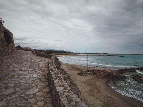 Sea And Sky Landscape_Collection Landscape_photography Rainy Day Clouds And Sky Rocks Stone Road Vilanova I La Geltru VnG