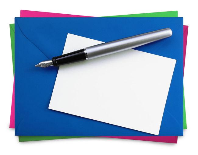 Envelopes on white background