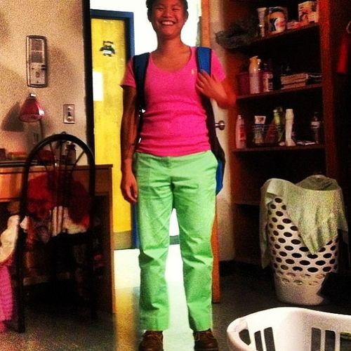 Pink and green day. PinkShirt  Greenpants