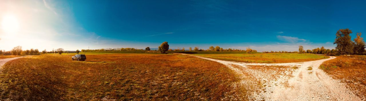 Overland Travel Panorama EyeEm Selects Field Nature Landscape Tranquility Beauty In Nature Sky Scenics Outdoors No People Rural Scene Day Tranquil Scene Agriculture