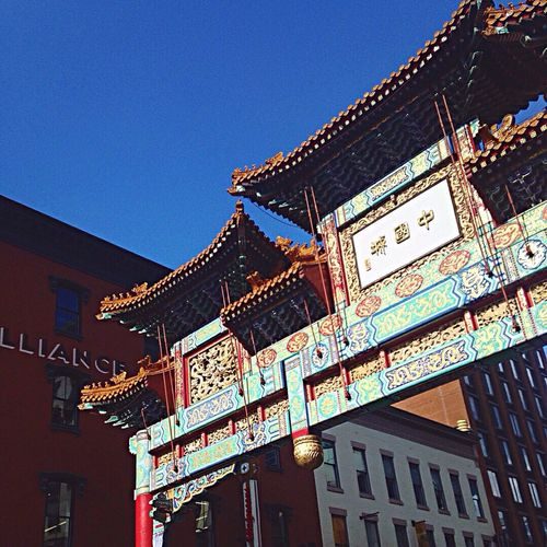 Low Angle View Chinatown Architecture Clear Sky Day Outdoors No People Art Love First Eyeem Photo