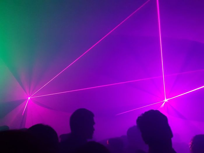 Laser night in a club in Bangkok Lazer Lights Clubbing Lazershow Crazy Party Last Night..  Party Lighting Shows Dance