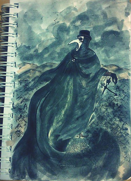 Art Drawing My Drawing Plague Doctor