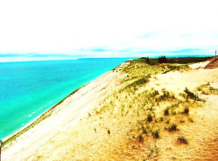 Sleeping Bear Dunes Sea Horizon Over Water Scenics Water Beach Tranquil Scene Beauty In Nature Camping Outdoors