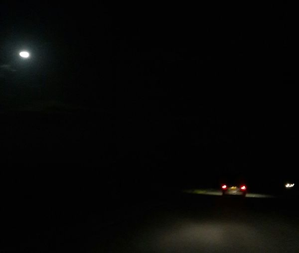 Eerie night pic on the road
