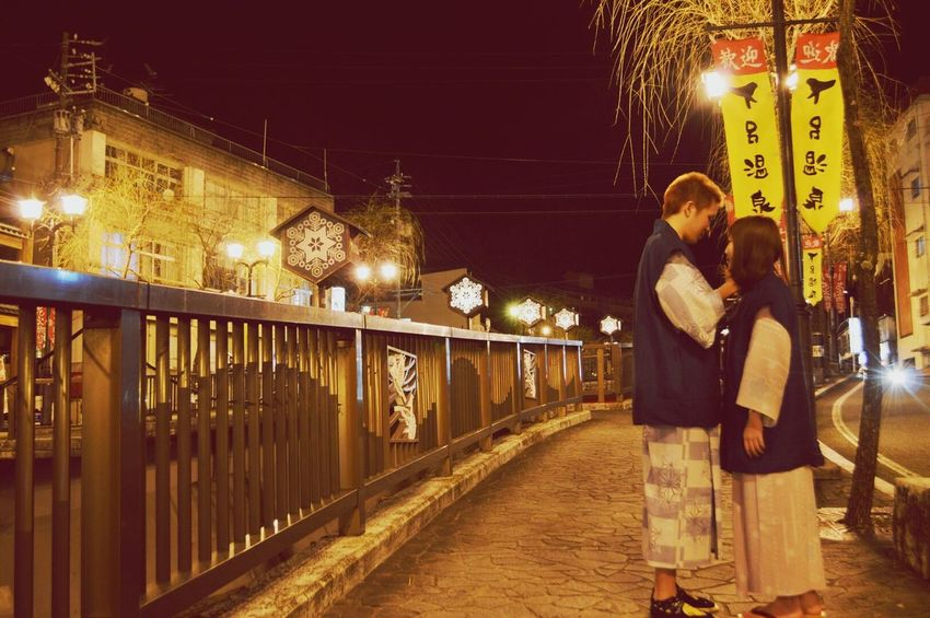Snap A Stranger Two People Love Night Japanese Culture Japan