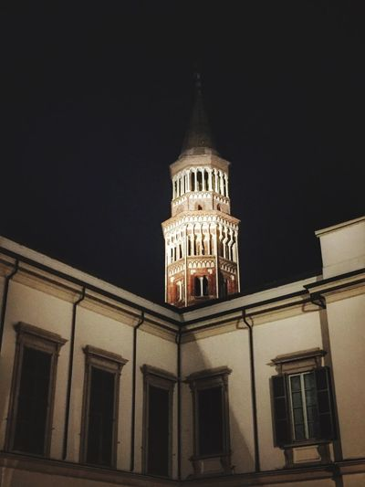 Milano Architecture Building Exterior Built Structure Night No People City Sky Illuminated Outdoors Milanodaclick Milanomonamour Milanodavedere Tranquil Scene Capture Moments Milanocity Light And Shadow Warm Atmosphere Beautiful Day Architecture Tranquility Take Photos