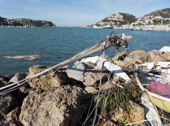 The day after the storm Andratx Bay Horizon Over Water Mallorca Mediterranean  Mediterranean Sea Mode Of Transport Nautical Vessel Outdoors Rock - Object Sea Sky SPAIN Transportation Water