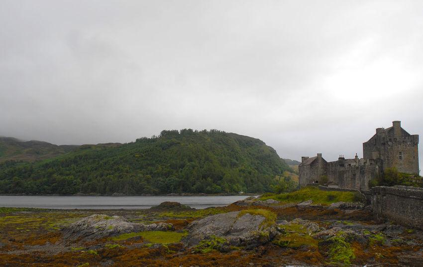 A bleak day at Eilean Donan Castle, Kyle of Lochalsh. (corrected version) Bridge Building Exterior Clouds Cloudy Day Day Eilean Donan Castle No People Outdoors Rocks Scenic View Scotland Travel Destinations Water