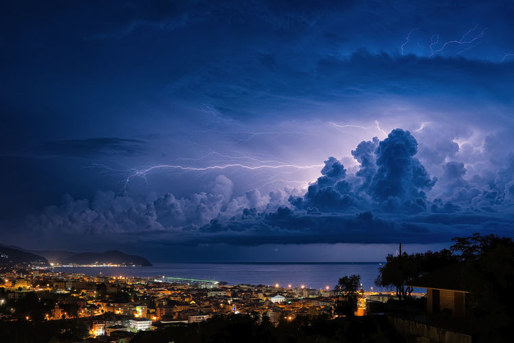 Lightning on the Ligurian Sea, Tigullio gulf - Chiavari, Lavagna and Sestri Levante Chiavari Sestri Levante Architecture Beauty In Nature Building Building Exterior Built Structure City Cityscape Cloud - Sky Dramatic Sky Energy Illuminated Lavagna Lightning Nature Night Outdoors Power Power In Nature Sky Storm Storm Cloud Thunderstorm Tigullio The Great Outdoors - 2018 EyeEm Awards