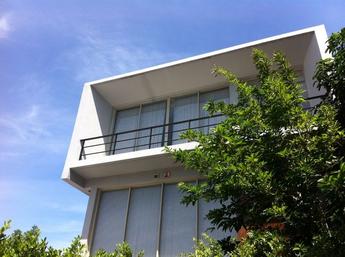 modern architecture in garden blue skyBluesky Blue Sky Leaf Nature Leaves Tree Plant Modern Modern Architecture Architecture House Modern Home Mobilestock Home Modern House Building Exterior Garden Sky Outdoors Sky And Clouds Clouds And Sky