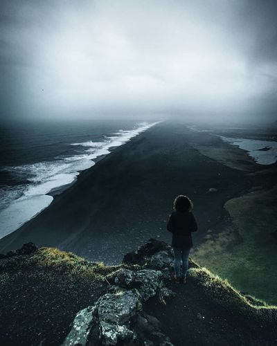 Got soaked after just a few minutes. Rain was pouring down like hell. Iceland Black Sand Beach Stay Out Water Full Length Sea Adventure Fog Landscape Storm Cloud Horizon Over Water Overcast Silhouette Dramatic Sky The Great Outdoors - 2019 EyeEm Awards