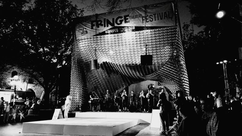 Little Girl Stealing The Stage Dancing The Night Away Jazz Dance Brass Band Cube Stage Concert Photography Black And White Photography WinnipegFringeFestival 2016 Dirtycatfishbrassband Hidden Gems