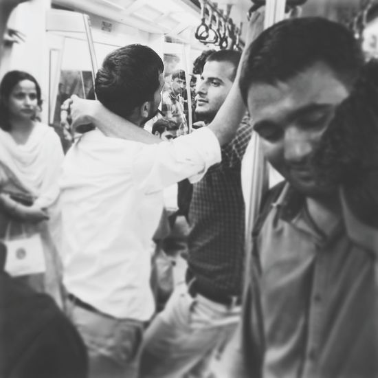 Public Display of affection - Bromance in a Patriarchal society RePicture Masculinity India Transport Public