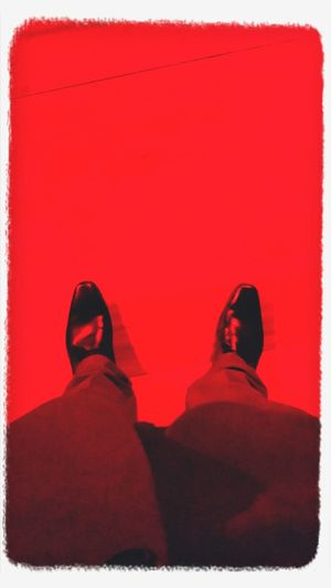 Floortraits red lights Aldo shoes!! Styling Funtimes tonight