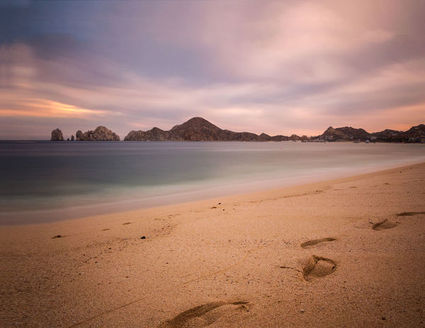 Cabo San Lucas Mexico Beach Beauty In Nature Cabo Day Landscape Mountains Nature No People Ocean Outdoors Sand Scenics Sea Sky Sunset Tranquil Scene Tranquility Water The Great Outdoors - 2018 EyeEm Awards