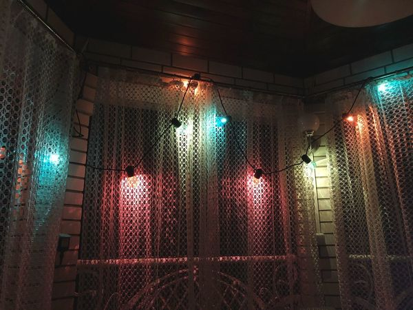 Illuminated Indoors  Lighting Equipment Window Architecture No People Glass - Material Night Built Structure Decoration Building Ceiling Light Electric Light