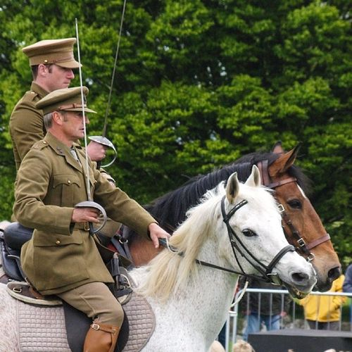 More from the Atkinson's Action Horses show at Castle Howard. Horses Stunts Reenactment Ww1 wwi castlehoward