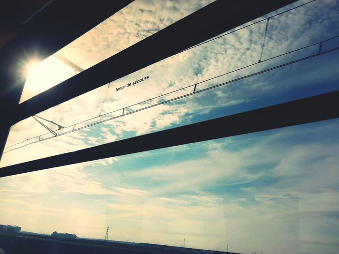 Sky_collection Sky And Clouds Issue De Secours Blue Sky Fromthetrain Keep Going  Landscape_Collection Dreaming Going Home Windows