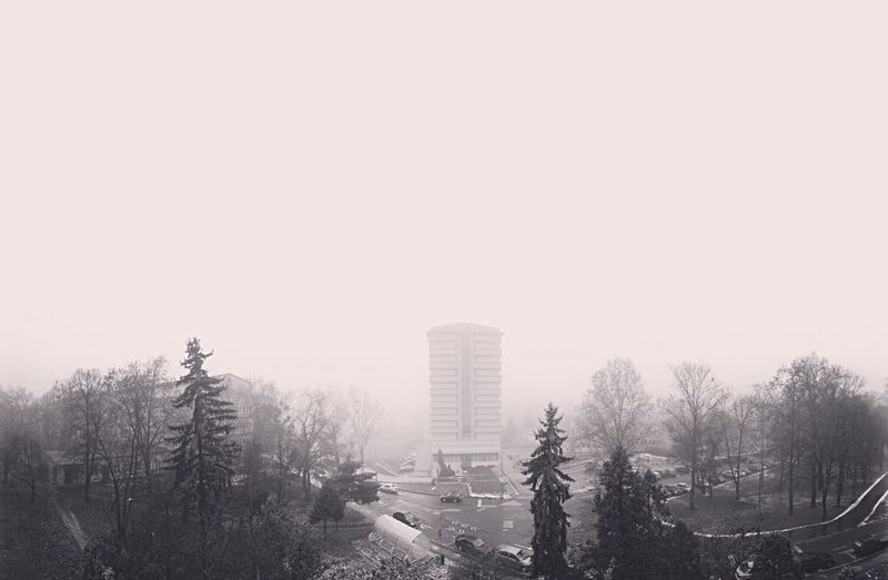 Foggy day Foggy Morning Foggy Day Foggy View Viewfrommywindow University Miskolc