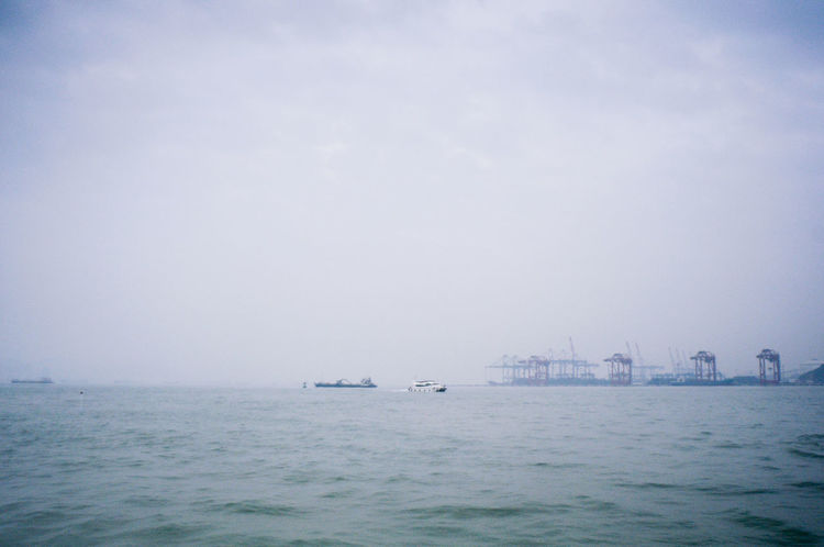 On the way to Gulangyu - Weekend trip to Xiamen. Blue Carl Zeiss Jena Landscape Landscape_Collection Landscape_photography Landscapes Minimalism Sea Sea And Sky Seascape Travel Travel Photography Traveling Trip Water Water_collection