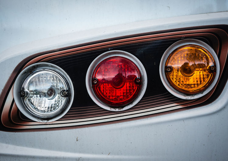 Close-Up Of Car Tail Lights