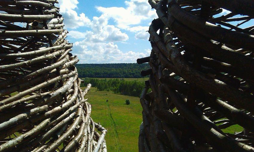 Summer Architecture Archstoyanie View Wood Field Wooden Art