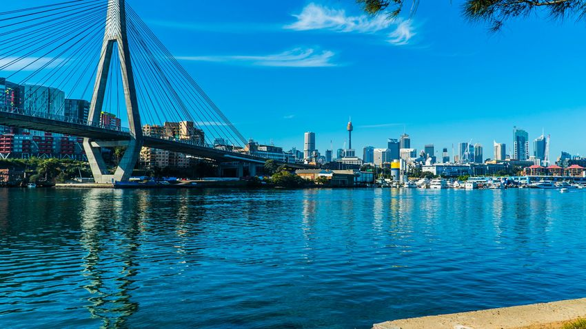 Looking at Sydney city from Black Wattle Bay.