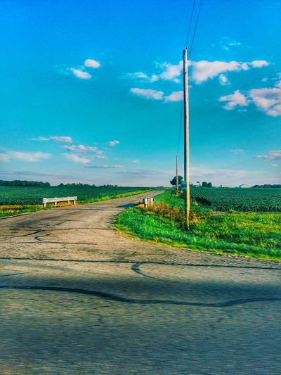 Colour Of Life Back Road  Ohio Surrounded By Fields Sunnyday Simple Life
