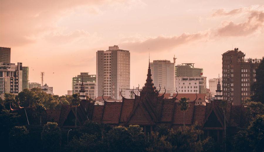 Architecture Phnom Penh Cat Culture Landscape Museum Sky Storm Cloud