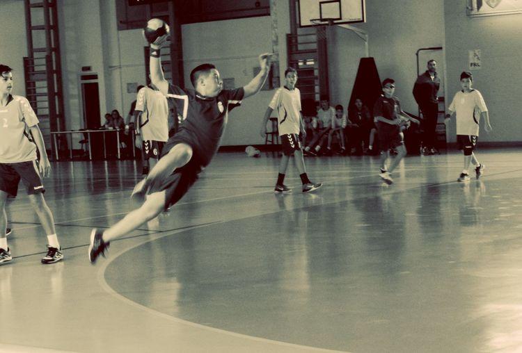 Handball Handball ❤ Matchday Championship Competition Competitive Sport Gym Handballplayer Indoors  Juniors Men Motion Sport Sports Team Sportsman