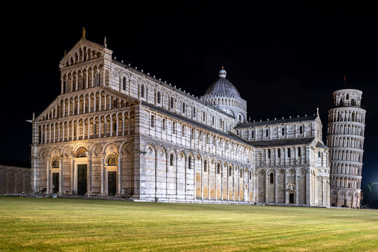 View of historical building against sky at night