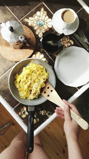 Cropped Image Of Woman Preparing Breakfast At Home