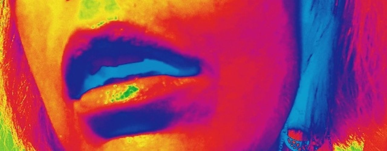 Multi Colored Full Frame Close-up One Woman Only Mouth Lips Bright Colors Infared Filter Multicolors  Honolulu, Hawaii Namaste ❤