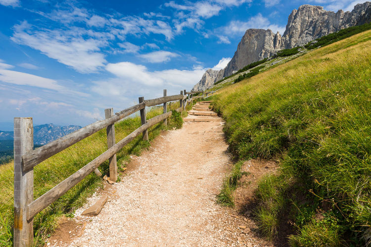 Footpath along mountains