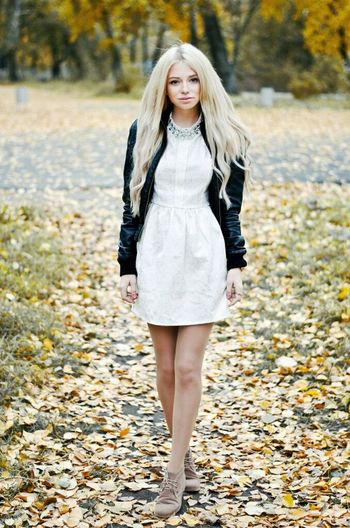 Russian Girl Blonde Longhair The Colors Of Autmn Autmn Beauty Redefined