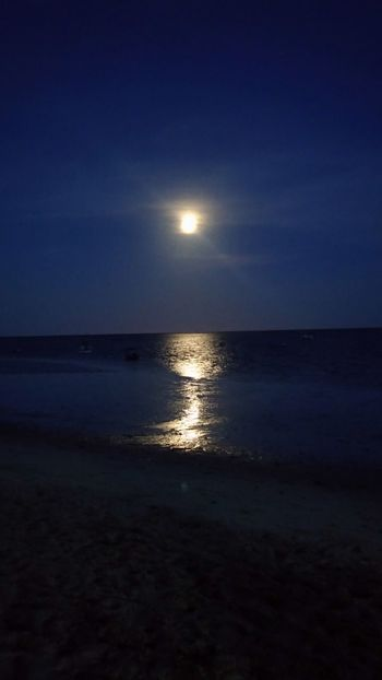Full Moon Beach Sea Moon Reflection Water Nature Sand First Eyeem Photo