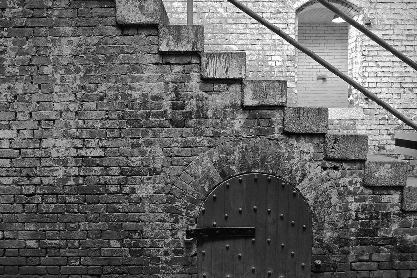Alcatraz The Rock Island Monochrome Photography Bricks Wall Railing Window