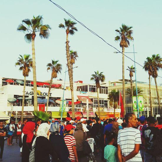 Morocco Casablanca Ain Diab Sunset Beautiful People Show Scene Crowd