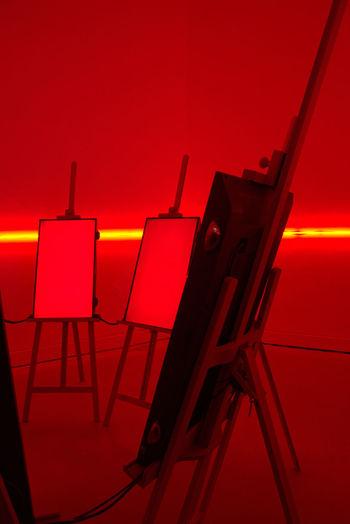 Architecture Art Biennale 2016 Contemporary Art Illuminated Indoors  People Red Venezia Venice