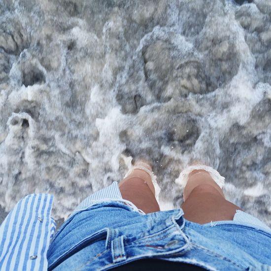 Sea Summertime Summer Vibes Beach Wave Blue Human Body Part