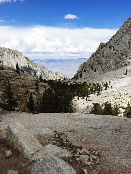 Edge Of The World Mtwhitney Sierras Inyonationalforest 7 miles to summit! Backpacking Hiking
