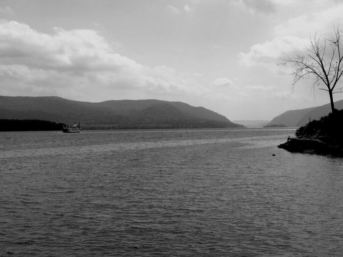 Newburgh Nbny Hudson River Hudson Valley Landscape Monochrome Blackandwhite Nature River Orange County Ny