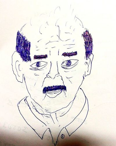My teacher's sketch made by me in 60 seconds on the last bench while he was taking the class.One of my random creations faster than maggi.😀😎⏳⌚📋✏ Cartoon Love Duringtheclass CartoonPorn Random Blue Pen Sketch Paper Art Lover Instaart Image Thought Last Bench Instant Creations  Fasterthanmaggi Memories Throwback Doubletap Class Fun Friends creative latetotheclassabstract random mypassion