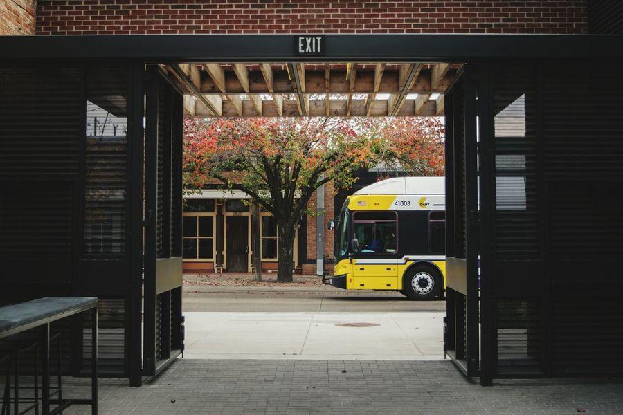 Bus Through Hall Opening Bus Transportation Dart Opening Hallway Street Photography Street Photo City Bus