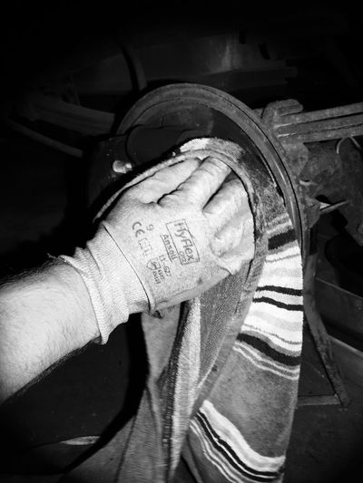 Work Human Hand Human Body Part One Person Real People Human Finger Holding Men Indoors  Close-up Day One Man Only People Work Gloves Messy Dirty Truck
