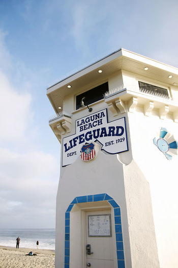 Architecture Beach California Cloud - Sky Day Laguna Beach Lifeguard  Lifeguard Tower Ocean Outdoors Pacific Ocean Sky Sunshine Vertical