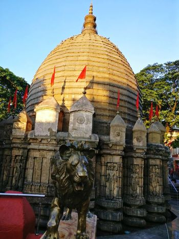 Travel Destinations Kamakhya Temple Guwahati India Godess Hindu Temple Worship Places Architecture Religion Pagoda Spirituality Ancient Building Exterior Statue Lion Lion Statue