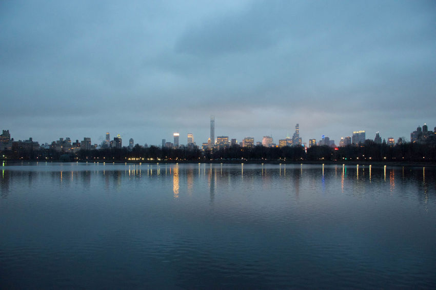 Cityscape Lakeshore Light Outdoors Reflection Skyline Standing Water Water